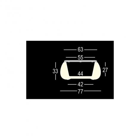 Skládací koktejlový stůl MODENA s deskou Ø 70 cm, bílý