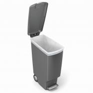 Plastový odpadkový koš ECOTOP II, žlutý